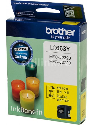 Картридж Brother LC663Y Yellow