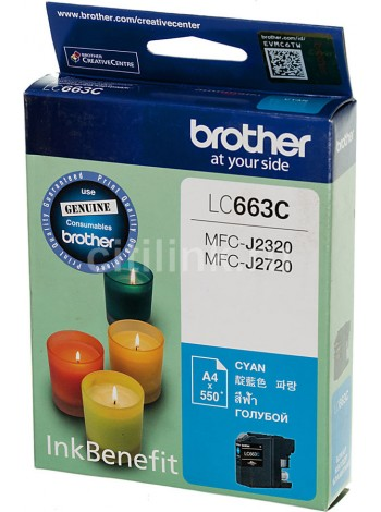 Картридж Brother LC663C Cyan