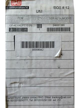 Мультиплексор RAD OP-4E1/AC/R/FC13 H