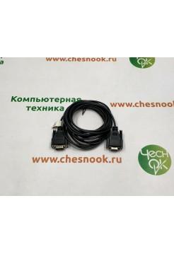 Кабель удлинитель RS232 m-f black, 4.5m