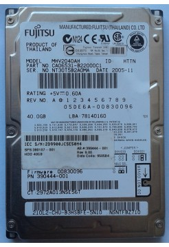 HDD 2,5 IDE 40GB Fujitsu MHV2040AH