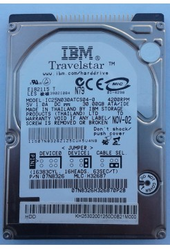 HDD 2,5 IDE 30GB IBM IC25N030ATCS04-0