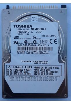 HDD 2,5 IDE 40GB Toshiba MK4032GAX